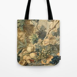 "Jan van Huysum ""Still life with flowers and fruits"" (drawing) Tote Bag"