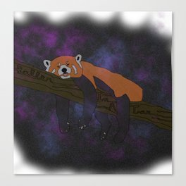 RED PANDA, IN SPACE! Canvas Print