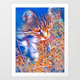 Wild Cat by GEN Z Art Print