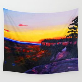 Billings, MT at Sunset Wall Tapestry