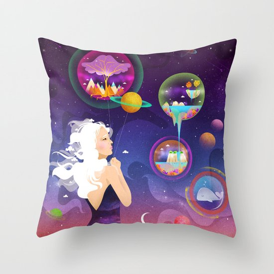Wonderworlds Throw Pillow