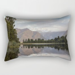 New Zealand Lake at sunset Rectangular Pillow