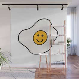 Happy Fried Egg Wall Mural