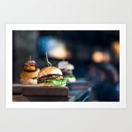Freshly Grilled Burgers Art Print