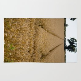 Tramlines in a wheat field Rug