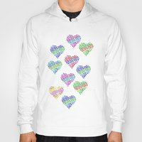 glitter Hoodies featuring Glitter Hearts by Jessica Slater Design & Illustration