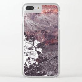 At Grand Canyon national park, USA in black and white Clear iPhone Case