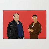 sopranos Canvas Prints featuring Sopranos - Tony Soprano - Paulie Gualtieri by Lucho Margolin