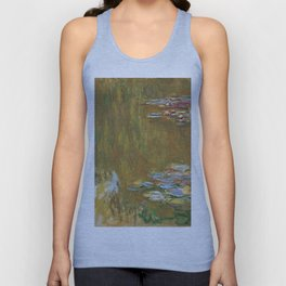 Monet, The Water Lily Pond 1917 Unisex Tank Top