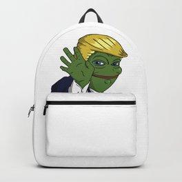 Trump Pepe The Frog parody meme green face MAGA Backpack