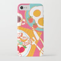breakfast iPhone & iPod Cases featuring Breakfast by AW illustrations