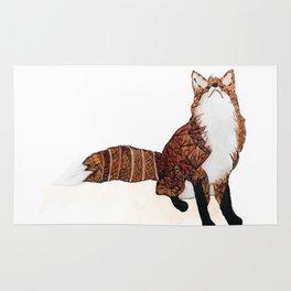Fox Art, Watercolor Art, Animal Art, Woodland Animal Rug
