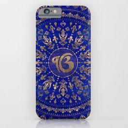 Ek Onkar / Ik Onkar Lapis Lazuli and Gold iPhone Case