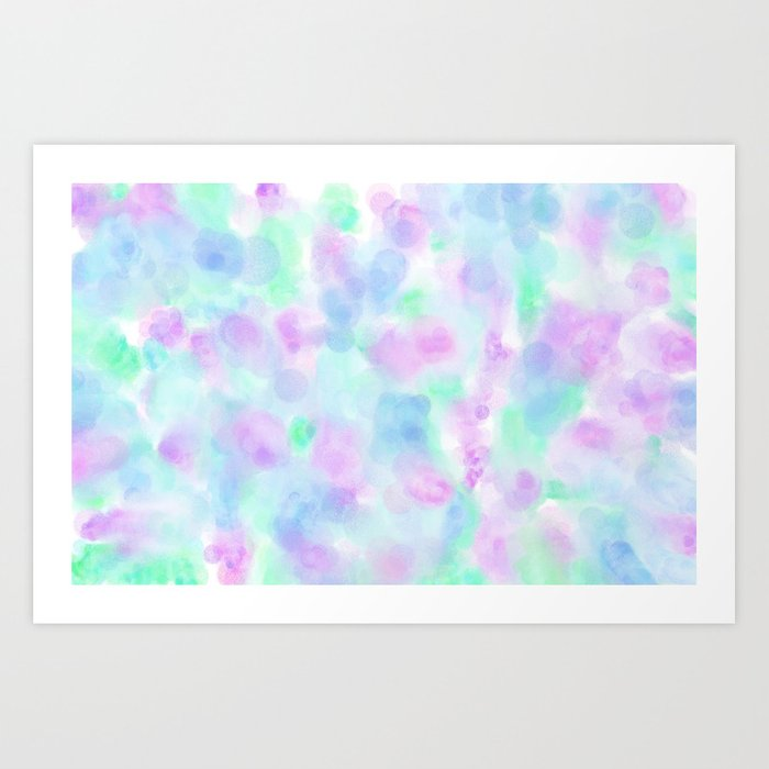 Abstract Purple Floral Watercolor Pattern Art Print