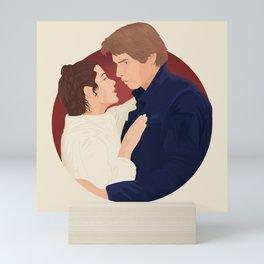 """""""Han Solo and Leia Skywalker"""" by Ariel Sinha Mini Art Print"""