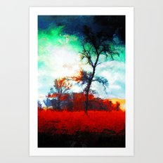 Fallen Leaves - Painting Style Art Print
