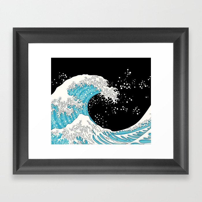 The Great Wave (night version) Gerahmter Kunstdruck