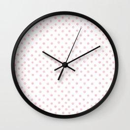 Pink Watercolor Polka Dots Wall Clock
