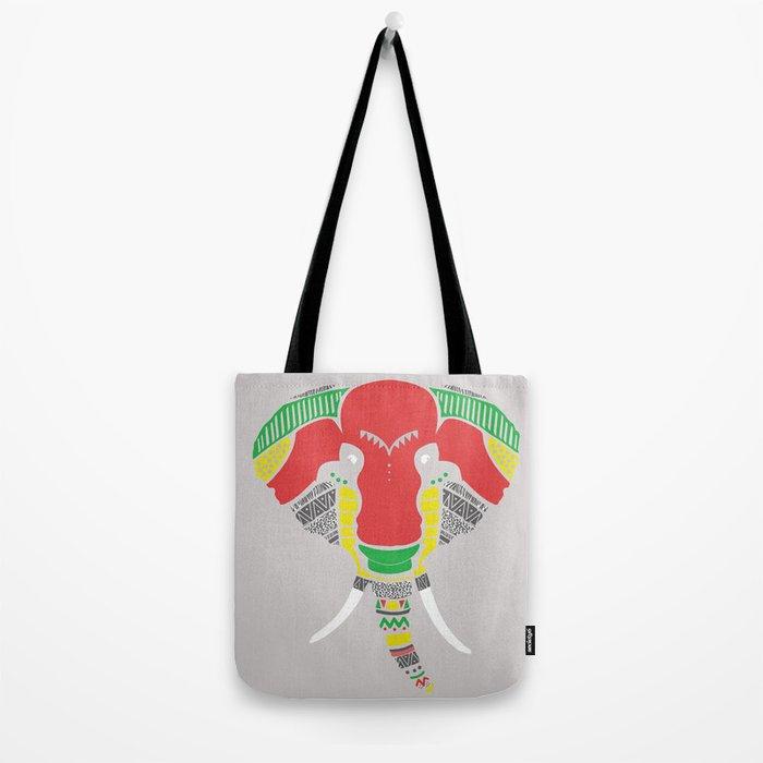 Colourful Elephant Tote Bag