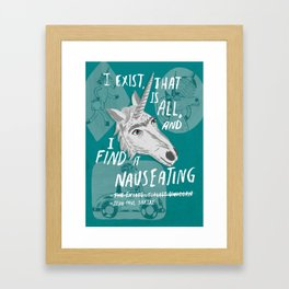 The Existentialist Unicorn Framed Art Print
