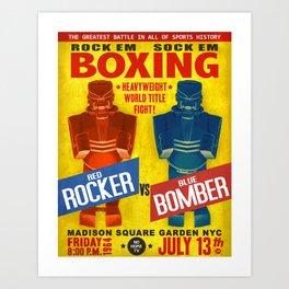 Rock Em Sock Em Robots...Fight! Art Print