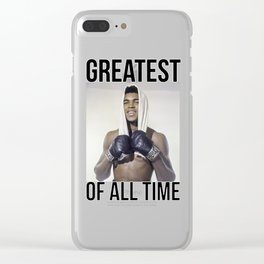 "Muhammad ""Greatest of All Time"" Ali Clear iPhone Case"