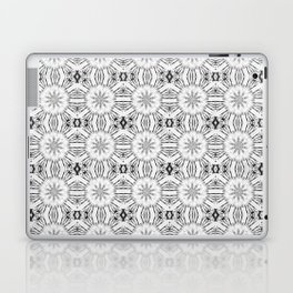 Charcoal Gray Floral Abstract Laptop & iPad Skin