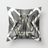 stay gold Throw Pillows featuring Stay Gold by Anna Hanse