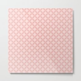 Original Handmade Pattern - Rose Olive Branch Metal Print
