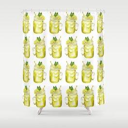 Watercolor Summer Lemonade Shower Curtain