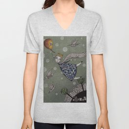 You can fly, Mary! Unisex V-Neck