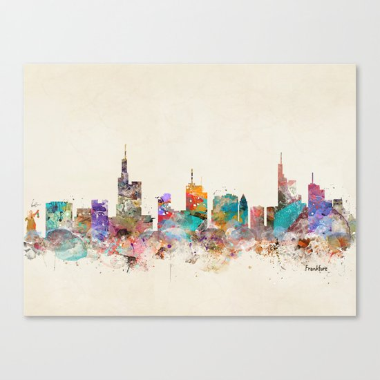 Frankfurt city Germany Canvas Print