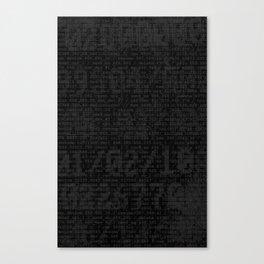 Digital Black Canvas Print