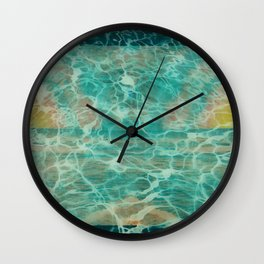 Tie Dye Sunsets Underwater Wall Clock