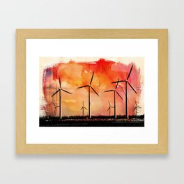 Wind energy Framed Art Print