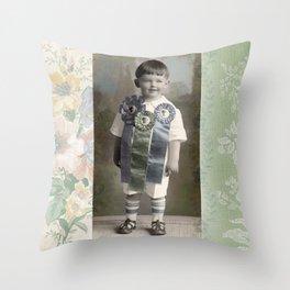 Prize Ribbon Boy Throw Pillow