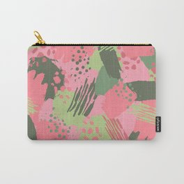 Pink & Green cool brush Carry-All Pouch