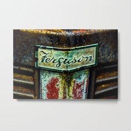 Ferguson Tractor Logo ~ Little Grey Fergie ~ Vintage ~ Ginkelmier Inspired Metal Print