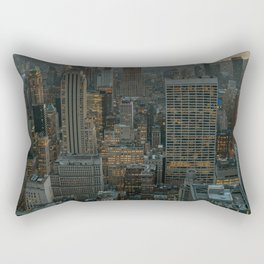 New York Skyline - Manhattan Night Rectangular Pillow