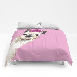 Llama Queen in Pink Comforters