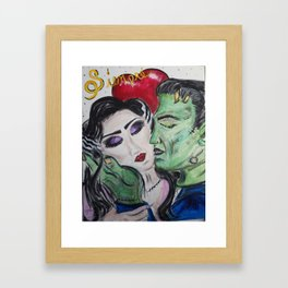 Siempre Monster Love Framed Art Print