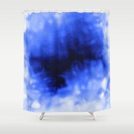 Blue Snow Shower Curtain