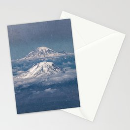 Mount Adams Mt Rainier - PNW Mountains Stationery Cards