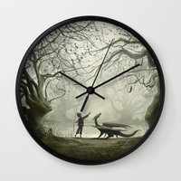 The Boy And His Dragon Wall Clock