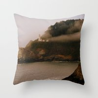 lighthouse Throw Pillows featuring Lighthouse by Victoria's View