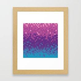 Pixel color Framed Art Print