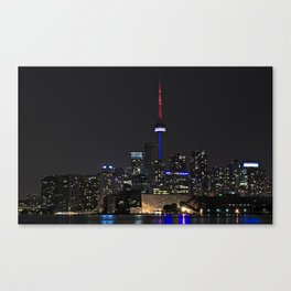 Toronto at Night Canvas Print
