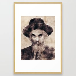 Loitzker Rebbe - Yochanan Shochet Framed Art Print