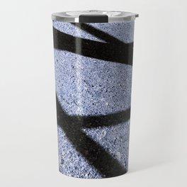 Crisscross in Blue Travel Mug