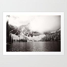 Wild Winter (B&W) Art Print